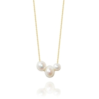 Collier 3 Perles Or