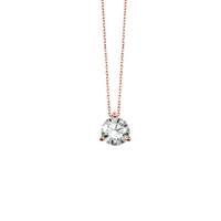 Collier Diamant & Or Rose 18 Carats Taille L