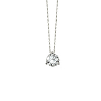 Collier Diamant & Or Blanc 18 Carats Taille L
