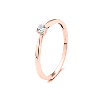 Bague Solitaire Or Rose Small