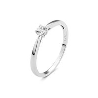 Bague Solitaire Or Blanc Medium