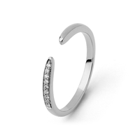 Bague Ouverte Diamants Or Blanc