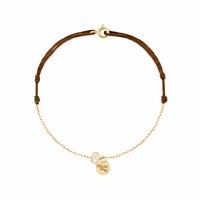 Bracelet Chaine et Cordon 1 Pépite Or