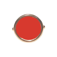 Bague Disc Quartz Rouge