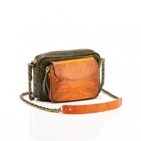 Sac Python Charly Kaki Orange