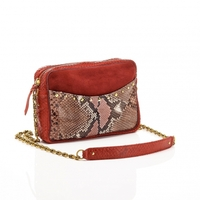 Sac Python Kate Rouge Bordeaux