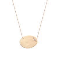 Collier Galet XL Or