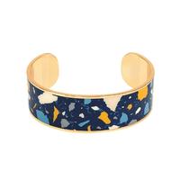 Bracelet Terazzo Bleu Nuit Or