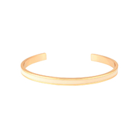 Bracelet Bangle Blanc Sable Or