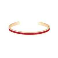 Bracelet Bangle Rouge Velours Or