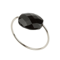 Bague Friandise Or blanc Onyx