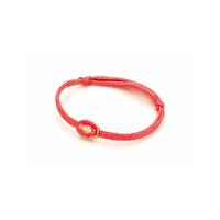 Bracelet Cordon Madone émaillé Rose
