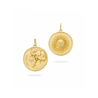 Pendentif - Charms Rond Sunshine Gold