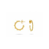Boucles d'Oreilles India Mini Créoles Gold
