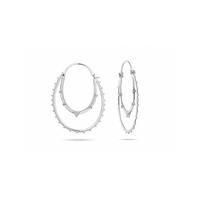 Boucles d'Oreilles Kolam Silver