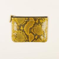 Porte Monnaie M Monoi Reptile Lemon