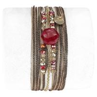 Bracelet Hexagone Rubis