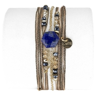 Bracelet Hexagone Lapis Lazuli