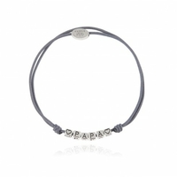 Bracelet Message PAPA Cordon Gris