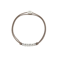 Bracelet Message PAPA Cordon Taupe