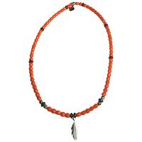 Collier Orange Plume