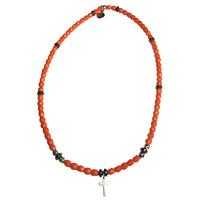 Collier Orange Croix