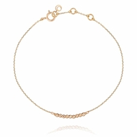 Bracelet Barrette Perles Gold