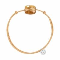 Bracelet Cordon Friandise Coussin Pierre de Soleil