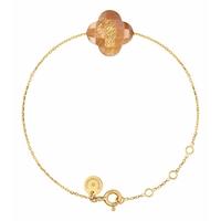 Bracelet Chaine Or Jaune Trèfle Pierre de Soleil