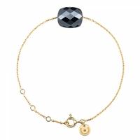 Bracelet Or Jaune Friandise Coussin Hématite