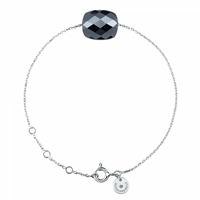 Bracelet Or Blanc Friandise Coussin Hématite
