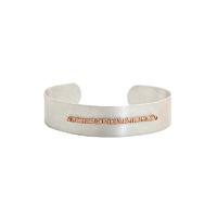 Bracelet Jonc/ Manchette Scarabée Médium Perles Argent et Gold