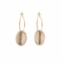 Boucles d'Oreilles Mini Créoles Scarabée Gold