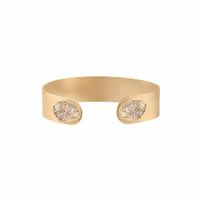 Bracelet Jonc/ Manchette Scarabée Paillettes Gold