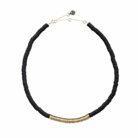 Collier Disc Puka Chic Black et Gold