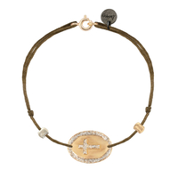 Bracelet Chaine/ Cordon Médaille Croix Gold