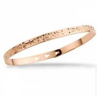 Bracelet Jonc Arabesque Rose Gold