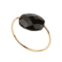 Bague Friandise or jaune Onyx