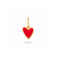 Pendentif - Charms Coeur Rouge Gold
