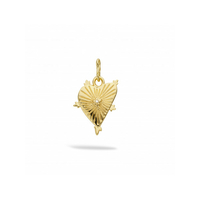 Pendentif - Charms Shinny Heart Gold