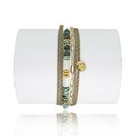 Bracelet Balinais Turquoise Sauvage