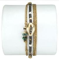 Bracelet Cauri Turquoise et Hematite