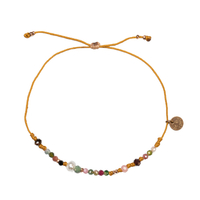 Bracelet Huahine Tourmaline, Hematite, Keshi