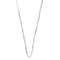 Sautoir - Collier Huahine Hematite, Labradorite, Pyrite