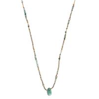 Sautoir - Collier Turquoise, Hematite, Labradorite