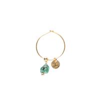 Mono Boucle d'Oreille Turquoise Sauvage
