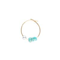 Mono Boucle d'Oreille 3 Perles