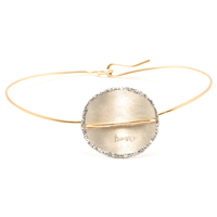 Bracelet - Jonc Sublime Or Cercle Blanc XL