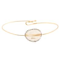 Bracelet - Jonc Sublime Or Cercle Blanc