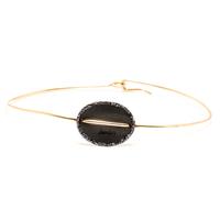 Bracelet - Jonc Sublime Or Cercle Noir